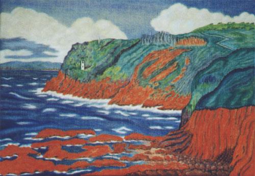 'Rotes Kliff und alte Minen' von Dietrich Guertler