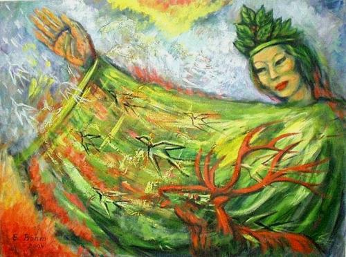 'Grün I' von  Edith Boehm