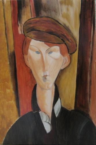 Nr.98 Junger Mann n.Modigliani