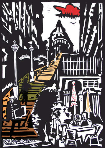 """Stufen zum Montmartre"""