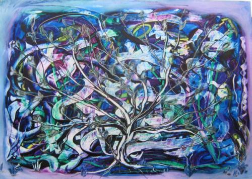 'ein Lebensbaum wächst aus dem Chaos' von  Anna Banfhile