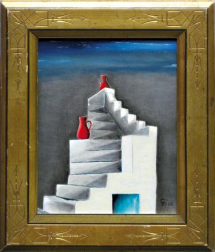 Treppe auf griechischer Insel