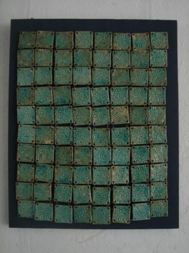 'Verkettet - türkis' von Catherine Scholz