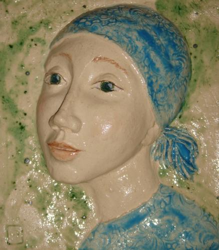 'Mädchen mit Kopftuch' von Catherine Scholz