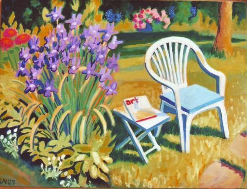 Lesen im Garten