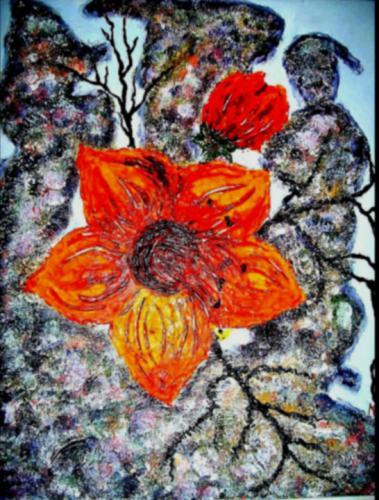 Blüten und Stein