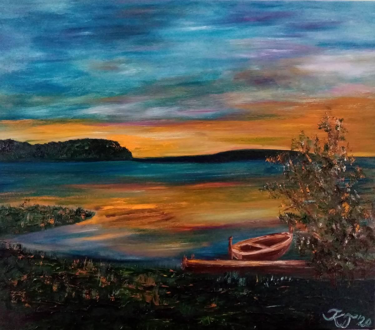 'Bodden am Abend' von  Kathrin Thesenvitz