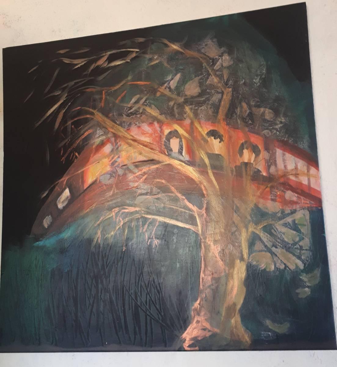 'Rasender Zug in der Nacht' von EstherHadassaKlein
