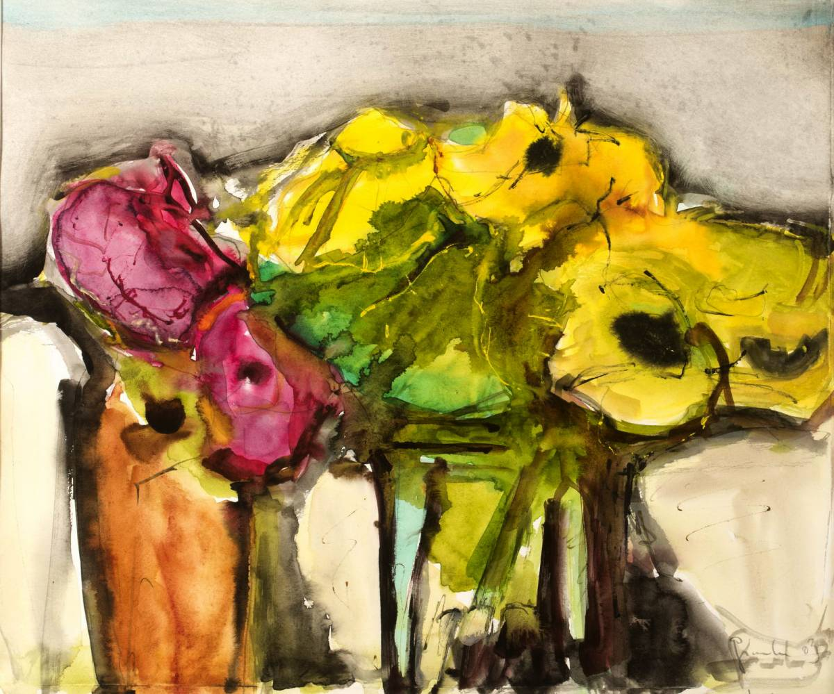 'Stillleben mit Sonnenbraut und Mohn' von LisaMaresa