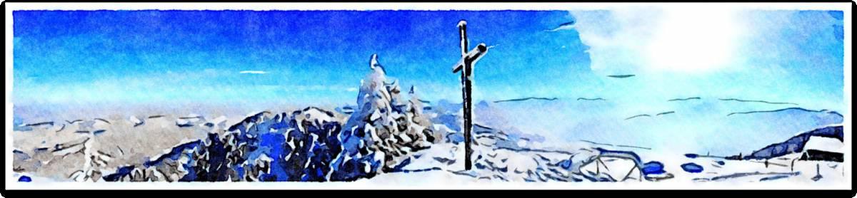 'Berg mit Schnee und Kreuz' von  SaskiaBJ