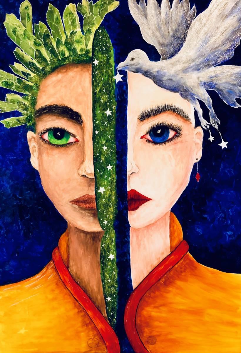 'Original Acryl - Eine bessere Hälfte' von  Leonie Bandurski