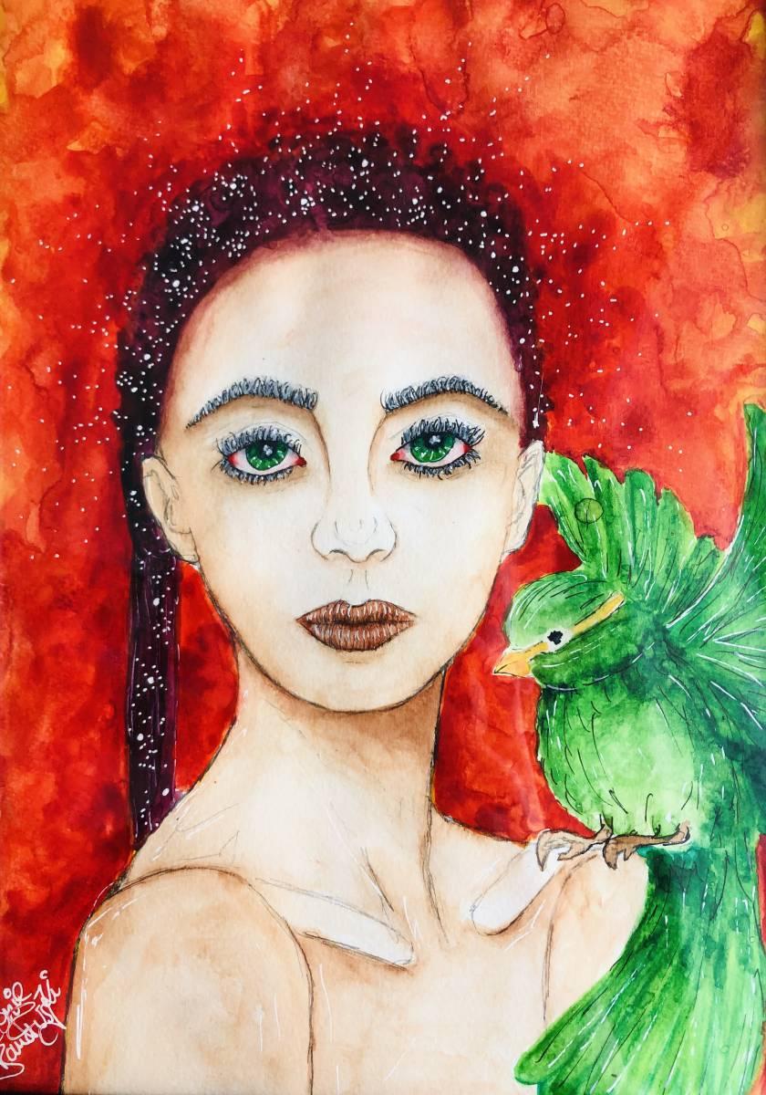 'Original Aquarell - Frieden' von  Leonie Bandurski