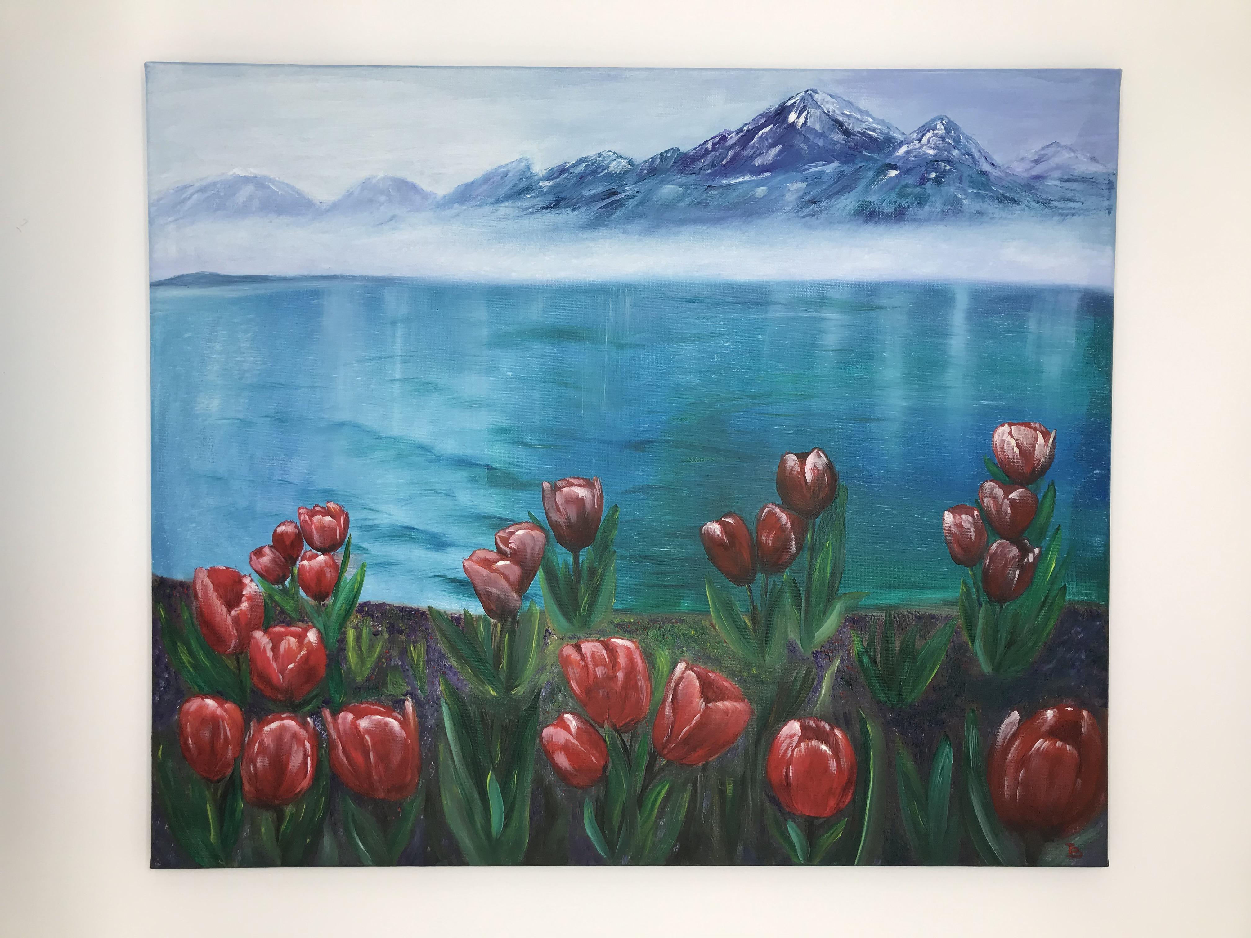 Tulpen in den Bergen