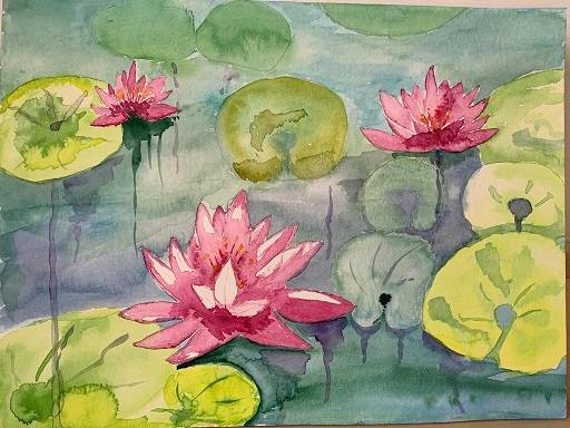 'Seerosen' von  Anja Napiany