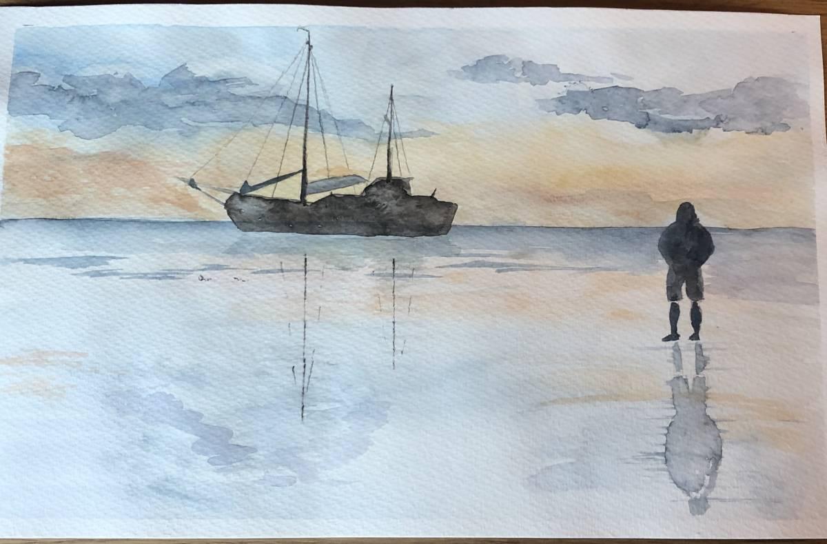 'Das Fischerboot' von  Anja Napiany