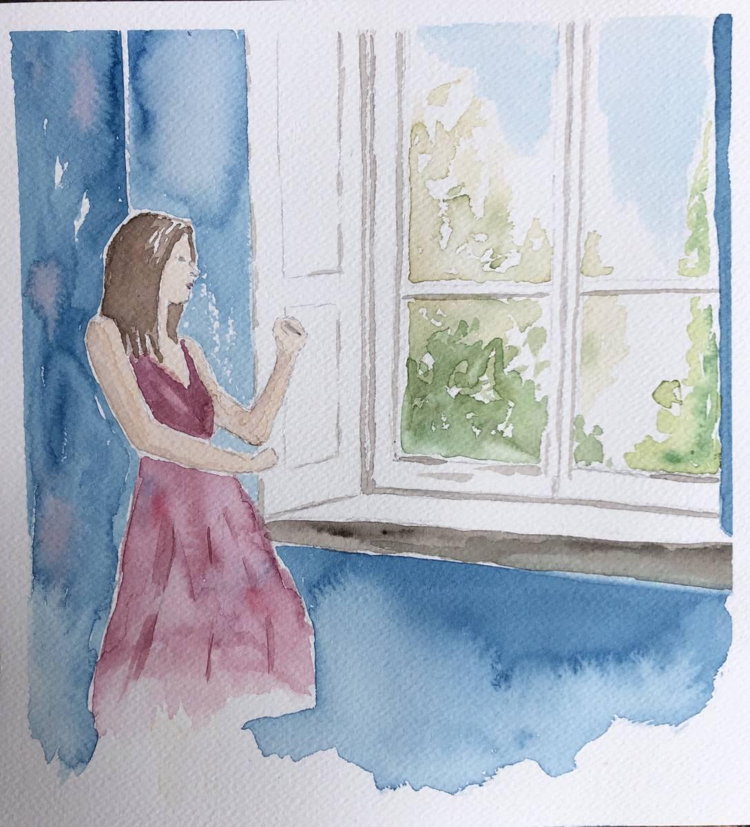 'Frau am Fenster' von  Anja Napiany