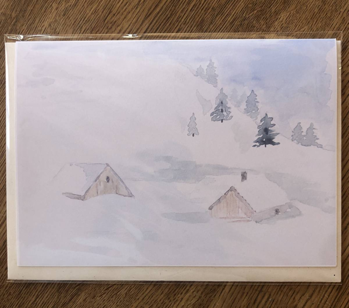 Kunstkarte Weihnachtskarte Wintermotive
