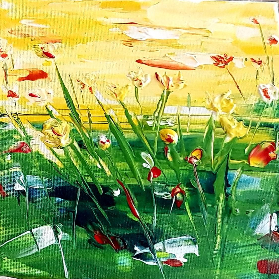 'Blumenwiese am See' von UtaCreativeArt
