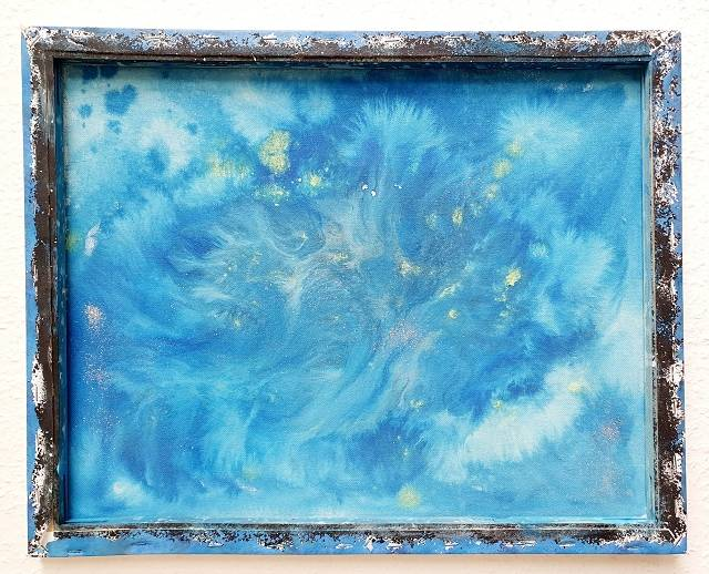 'Golden Light & >Golden Heart of blue Fantasy' von Dual ARTist The legend of moveing ART