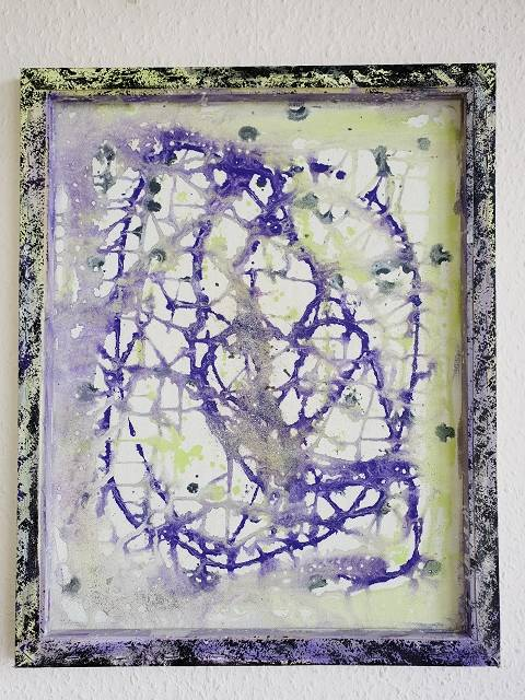 'PURPLE RAIN v.s FLIESSEN' von  Dual ARTist The legend of moveing ART