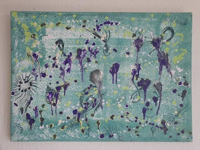 'Shellflowers v.s Kunstgalerie einzigARTig by me' von  Dual ARTist The legend of moveing ART