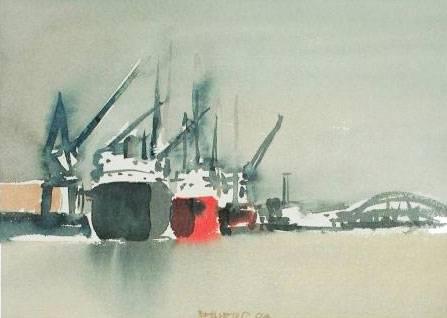 'Hafen Hamburg 4' von Reiners Juergen