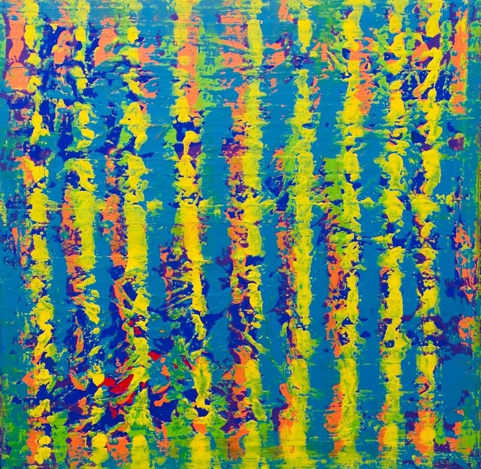 'Blue Pattern' von Volker Franzius