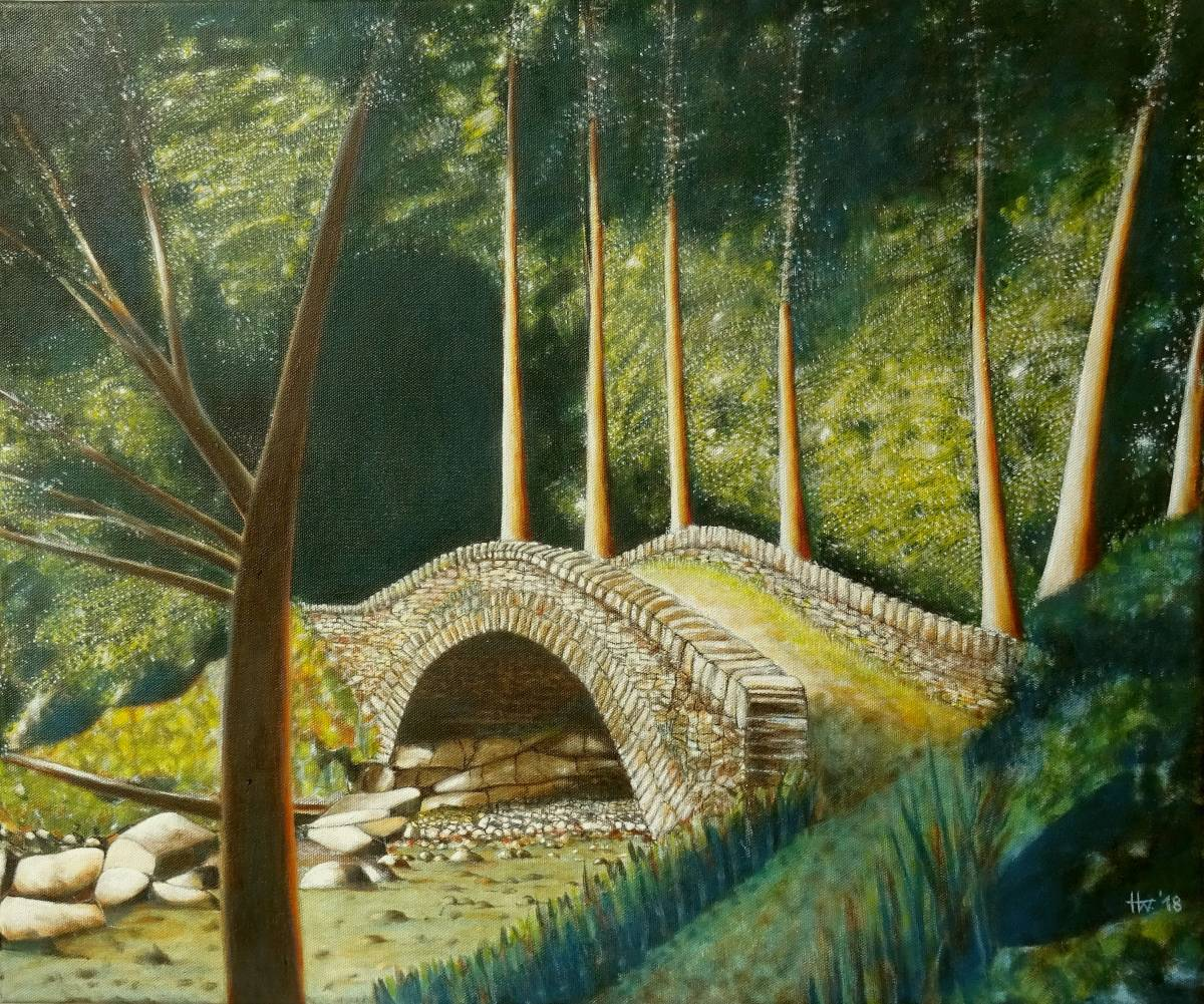 'Römerbrücke im Piemont' von Holm