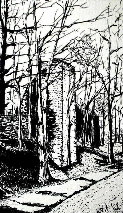 'Stadtmauer/Freiberg' von Holm