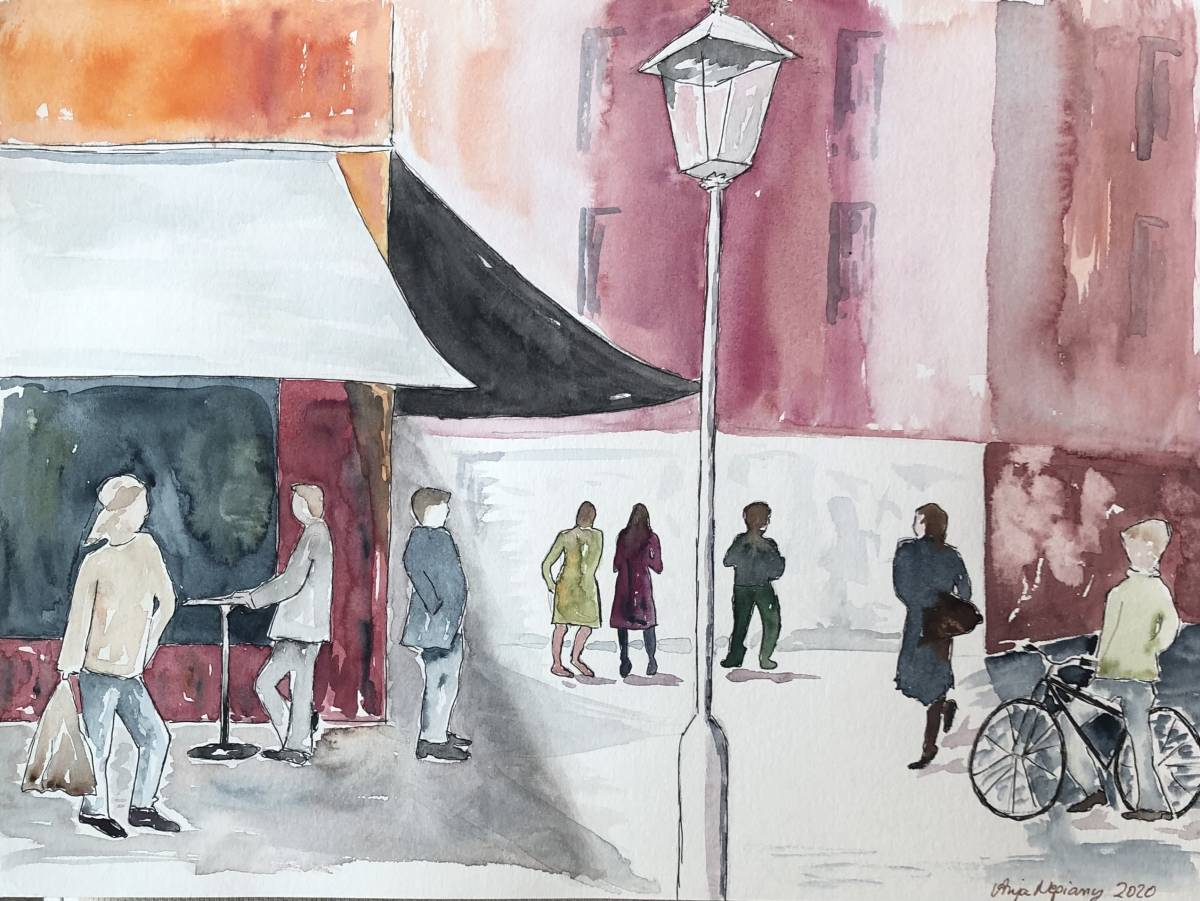 'Menschen in der Stadt' von  Anja Napiany