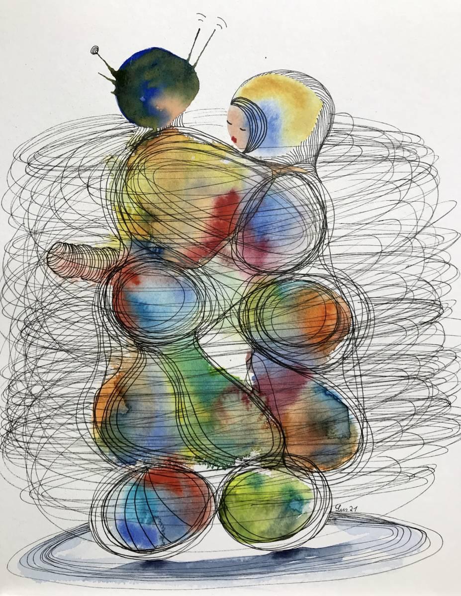 'Tanzendes Paar 2' von  Susanne Binder
