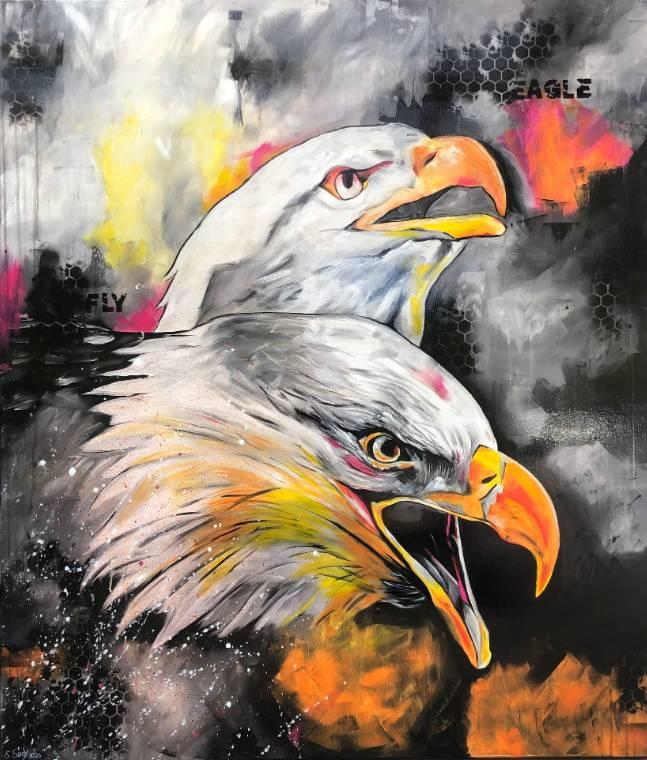'eagle fly - 120 cm x 140 cm' von  Sabrina Seck