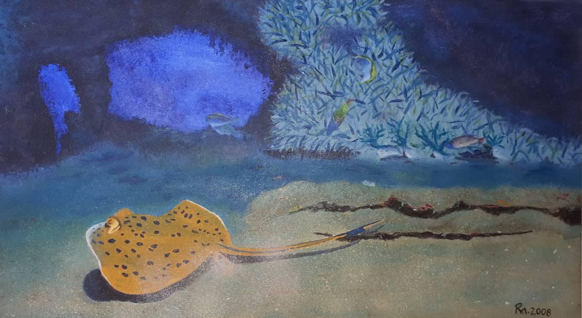 'Korallenriff mit Blaupunktrochen' von  farbenfreund
