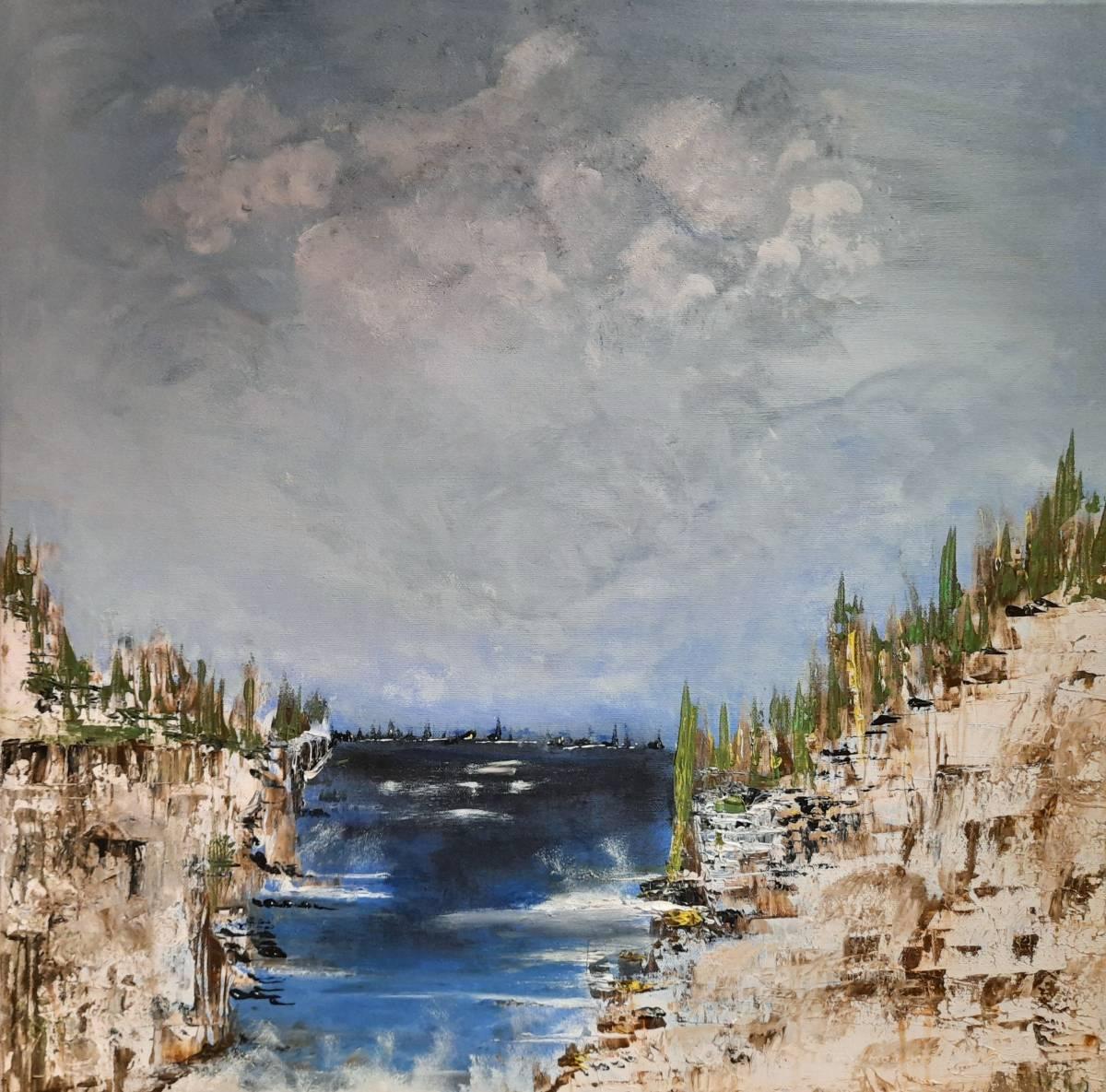 'Felsen und Meer' von  ChristineSchwarzabstrakt