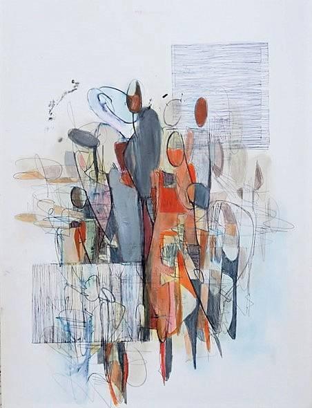 'O.T. | figürliche Komposition |2/21' von  Angela Fusenig