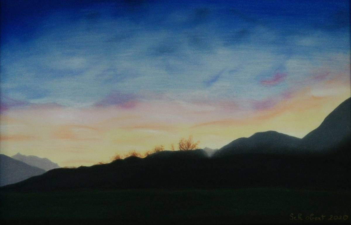 'Tiroler Sonnenuntergang' von  Sabine Schobert