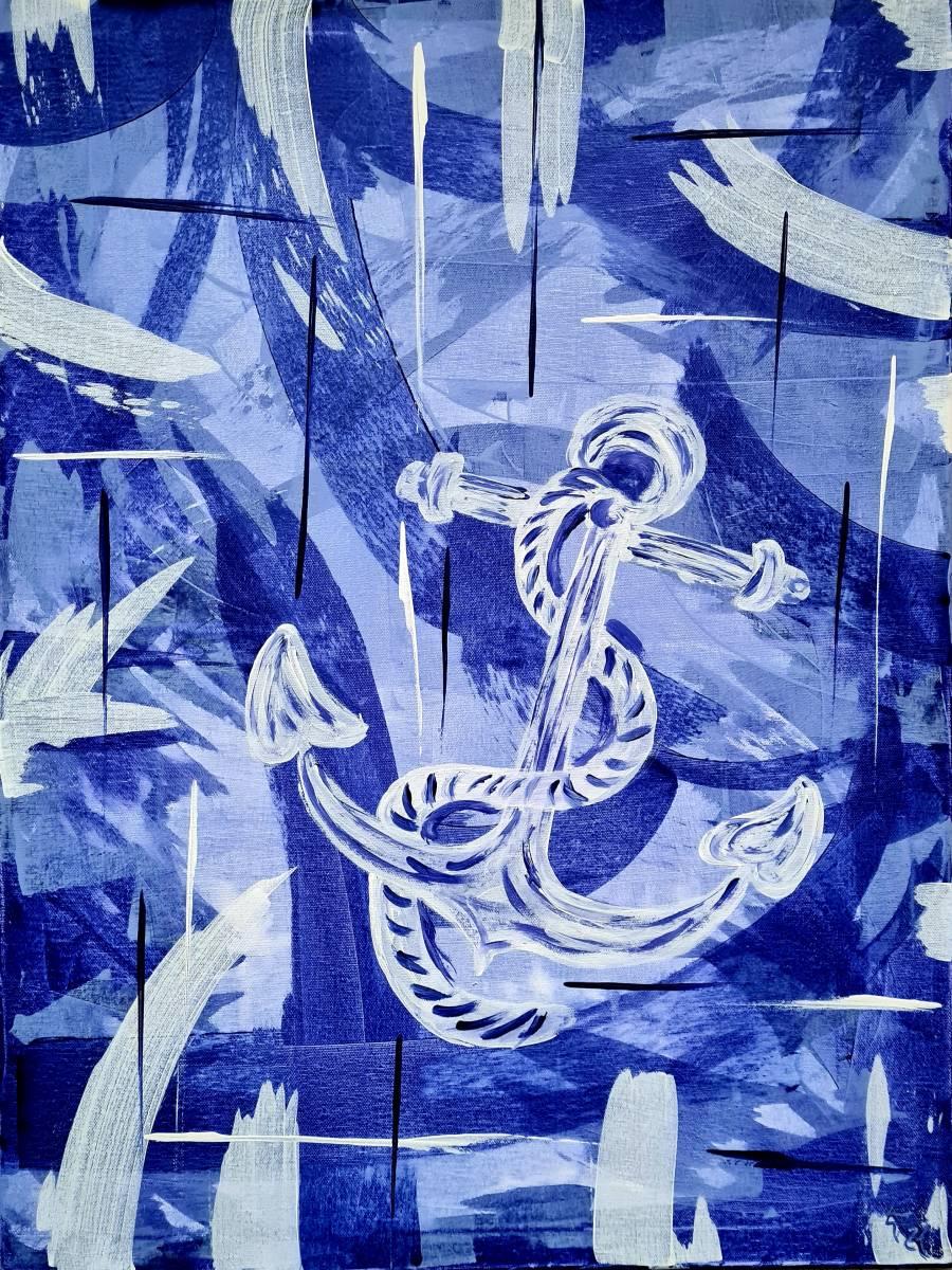 'Blue anchor' von AtelierTraumfinder EstherJanssen