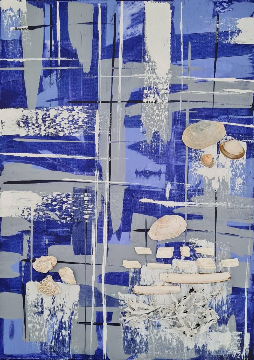 'Blue plant' von  AtelierTraumfinder EstherJanssen