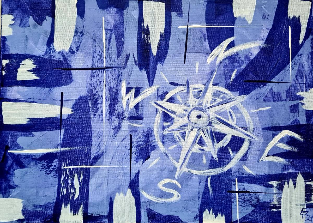'Blue compass' von  AtelierTraumfinder EstherJanssen