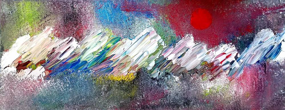'Sonnenuntergang in den Bergen' von  Ursula Di Chito