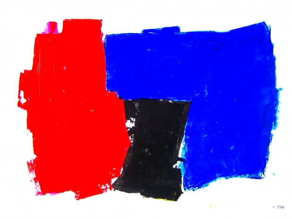 'Rot-Blau-Schwarz' von Volker Franzius