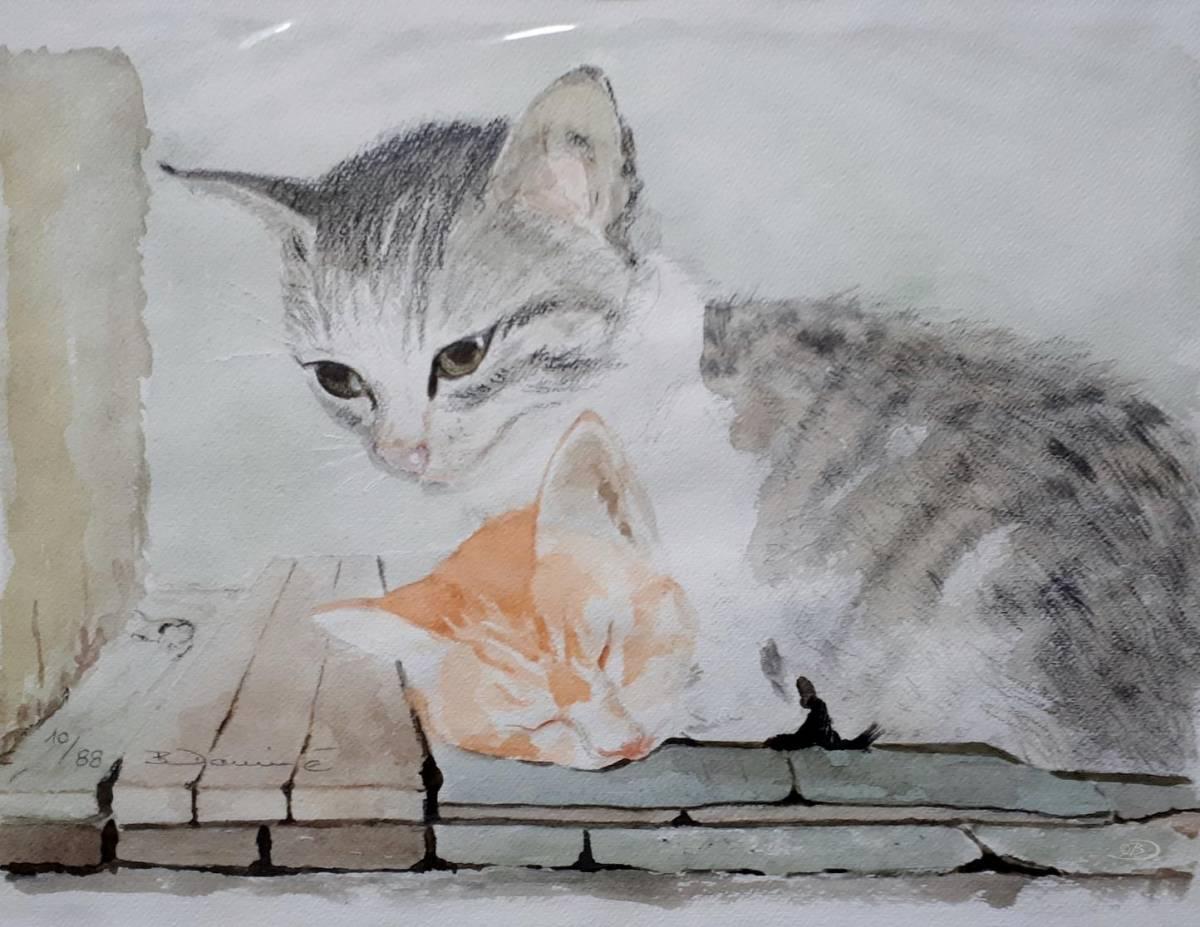 'Schlummernde Katzen' von  Barbara Domine