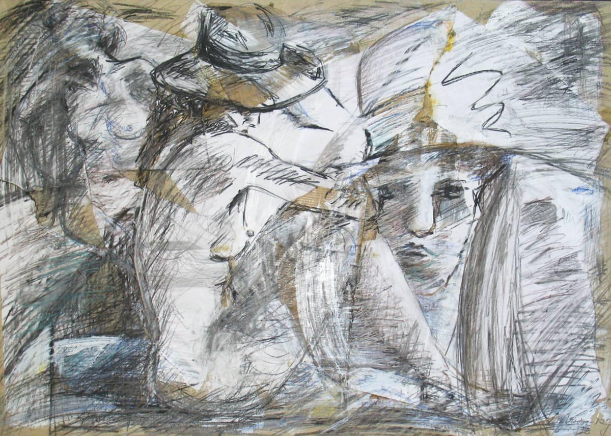 'Akt und Portrait mit Hut' von kiviulma