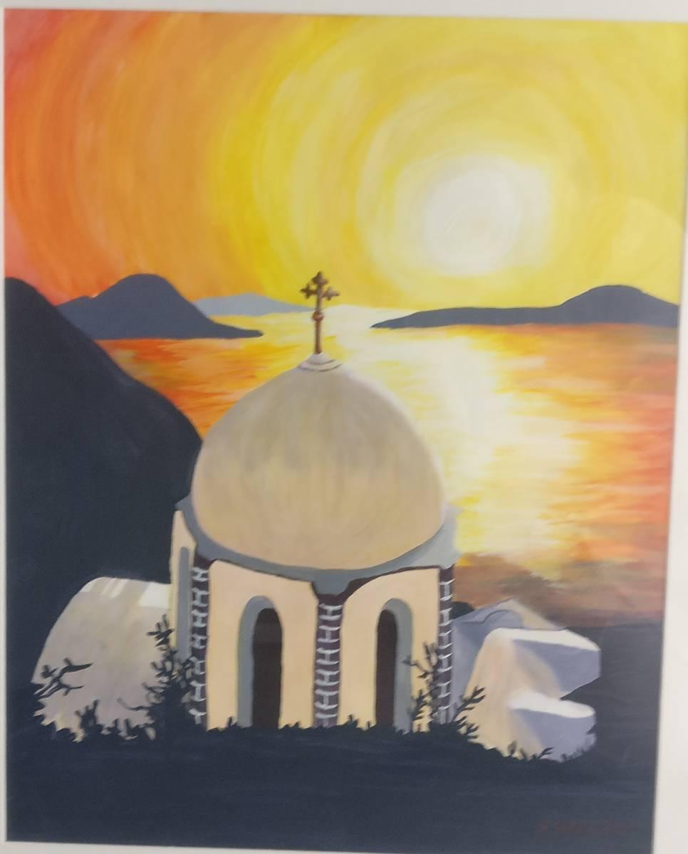 'Kapelle in Santorin' von  Simone