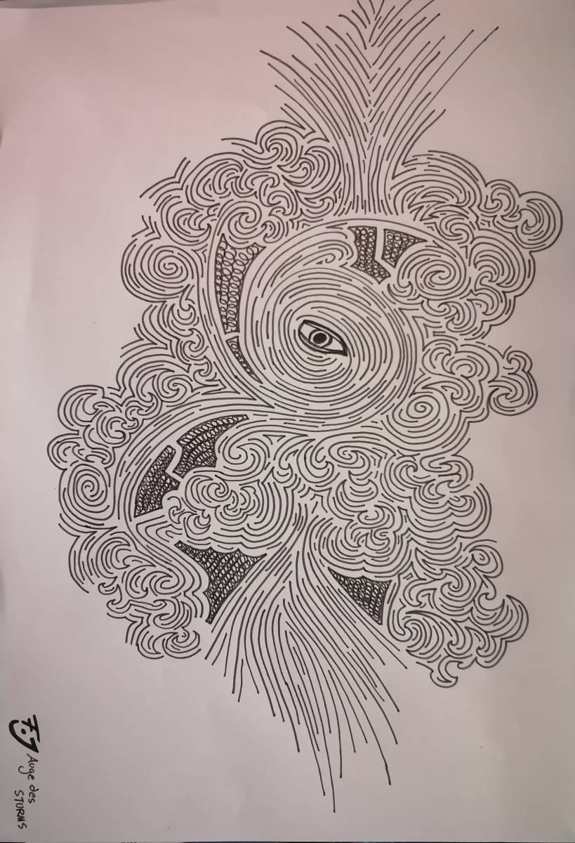 'Auge des Sturms' von  Nameless