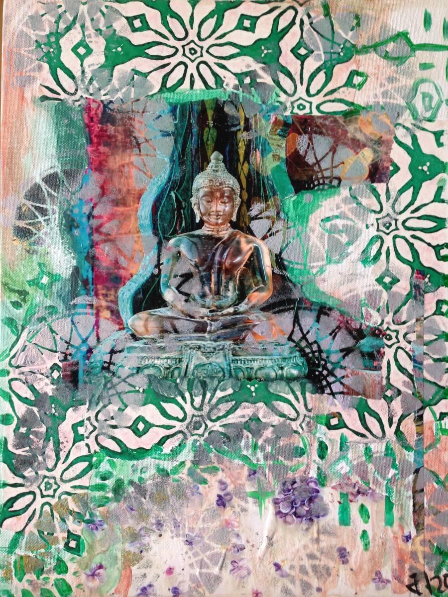 'Green Buddha' von Fraupingartwork