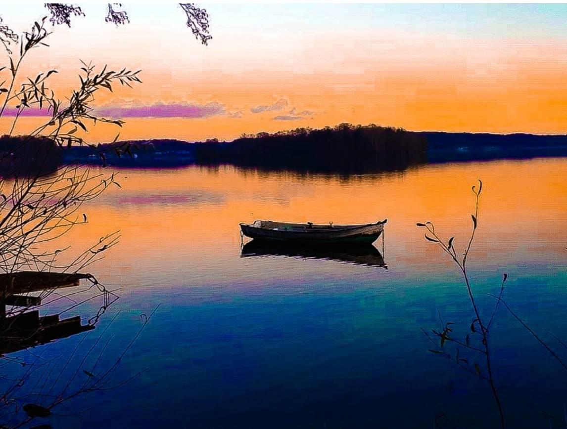 'Sonnenuntergang am See' von Nomi Morina