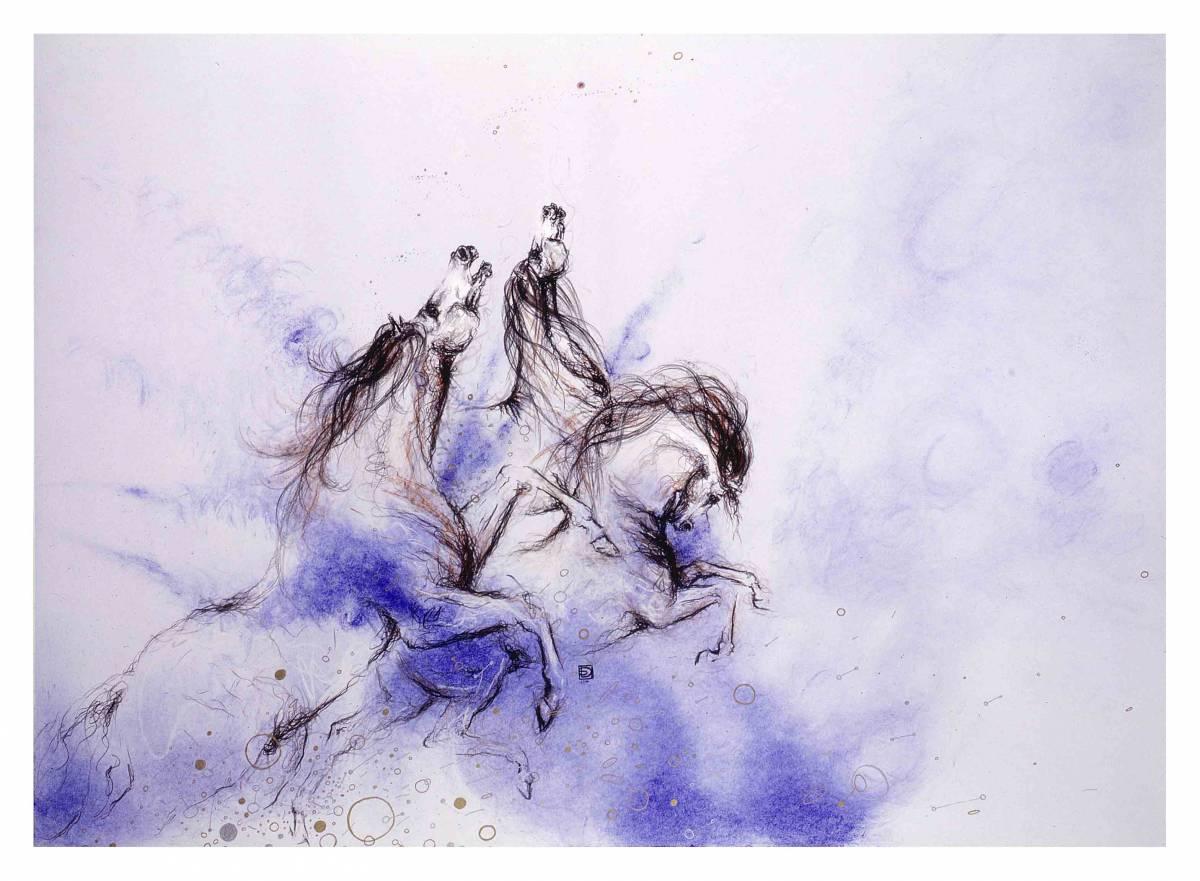 'Sketch for oil painting EVE BEFORE ARMAGEDDON' von MUSICA Daisuke Schneider
