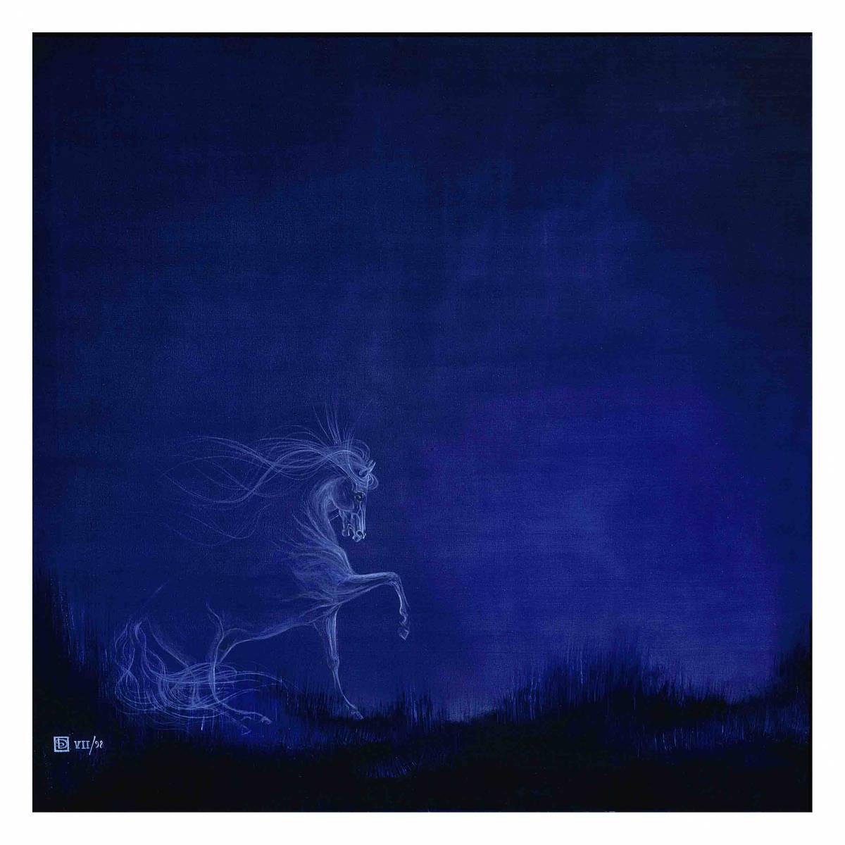 'STUDY OF A STALLION AT NIGHT' von  MUSICA Daisuke Schneider