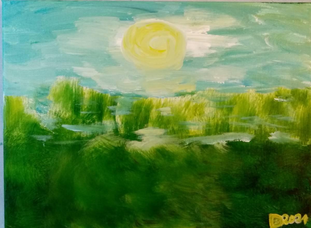 'Grüne Landschaft' von  MuttiKlecks